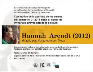 Foro película Hannah Arendt