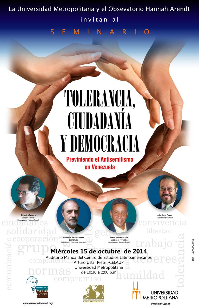 Seminario Tolerancia Ciudadania y Democracia 15 10 2014