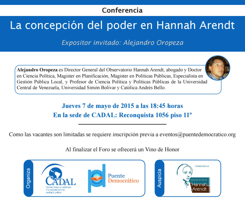 CONFERENCIA: La concepción del poder en Hannah Arendt