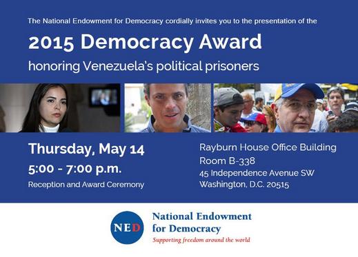Premio para la Democracia 2015
