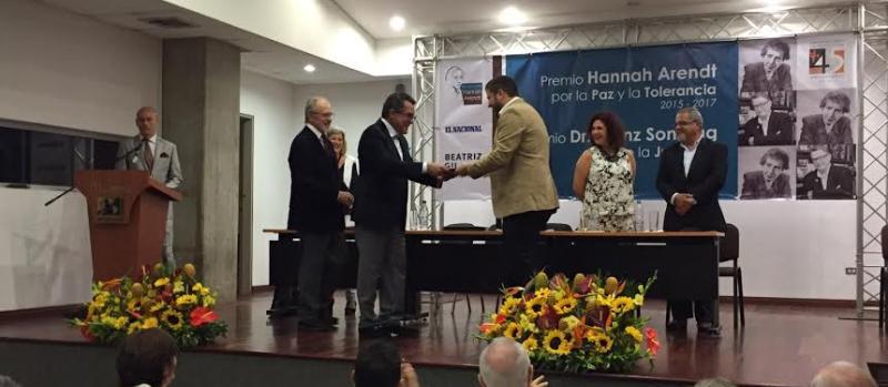David Smolansky recibe Premio Heinz Sonntag de la Juventud 2015-2017