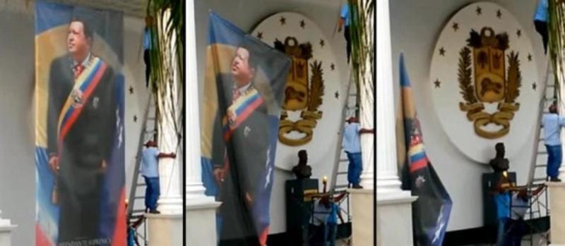 Imágenes del culto chavista en la AN intentaron construir una nueva identidad nacional