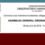 CONVOCATORIA ASAMBLEA GENERAL 2016