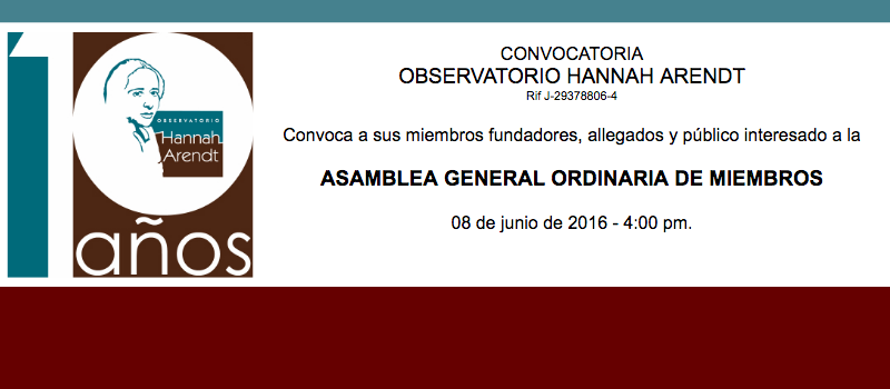 CONVOCATORIA ASAMBLEA GENERAL 2016