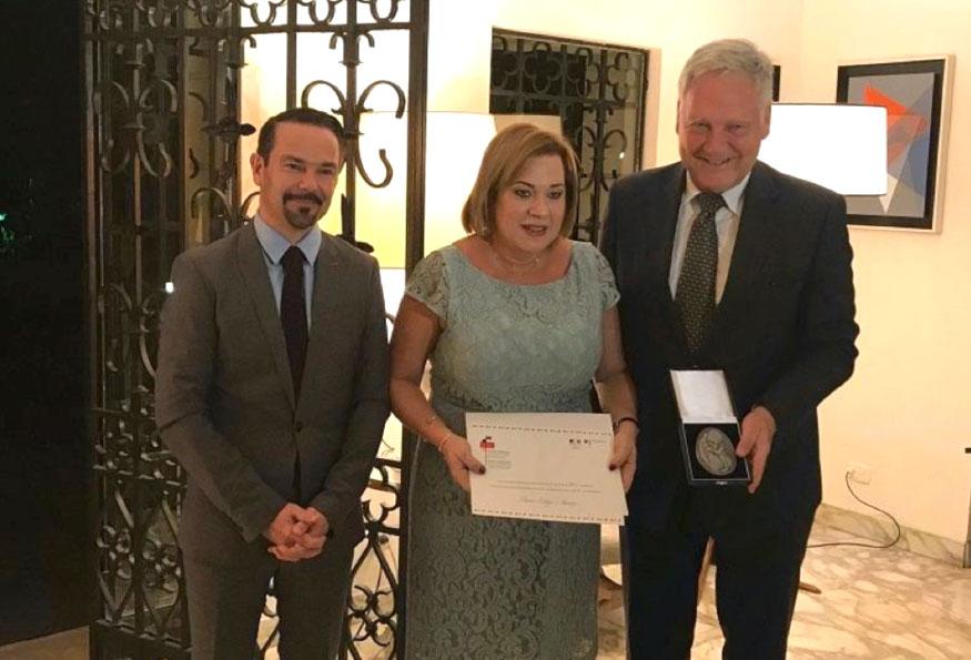 Liliana Ortega, Premio Franco-Alemán de Derechos Humanos y el Estado de Derecho 2017