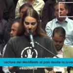 Lectura del Manifiesto del Frente Nacional Amplio Venezuela Libre desde la juventud