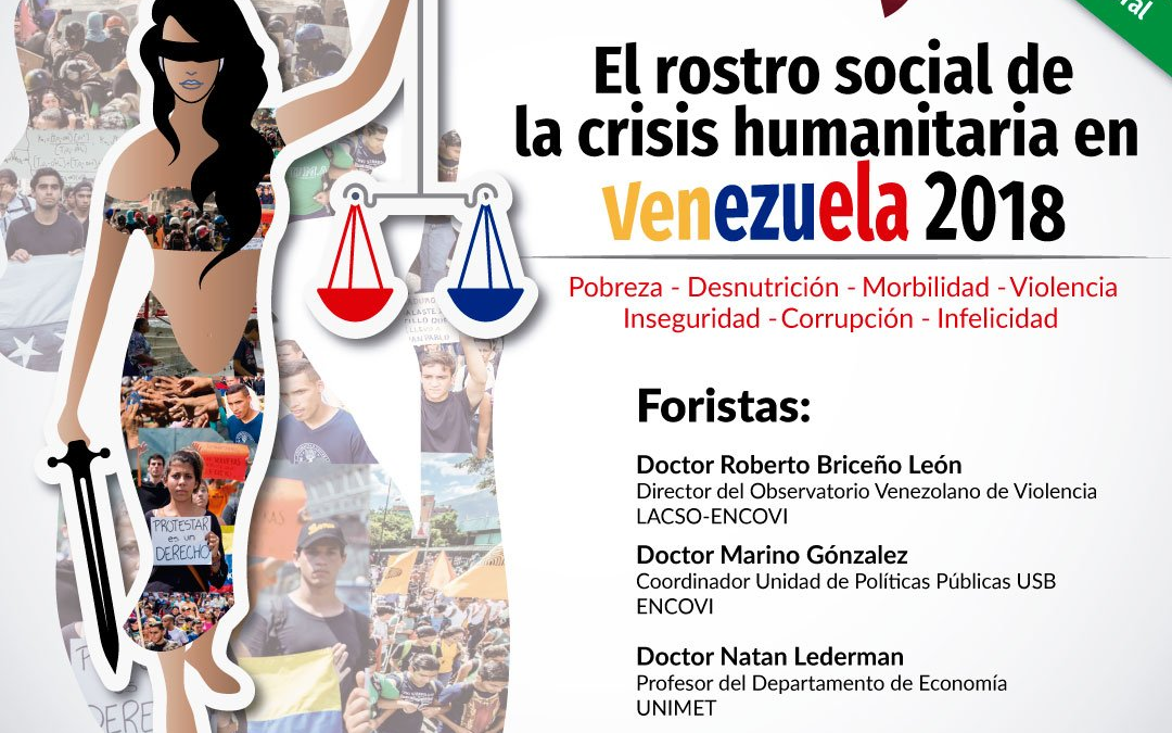 Foro: El rostro social de la crisis humanitaria en Venezuela 2018