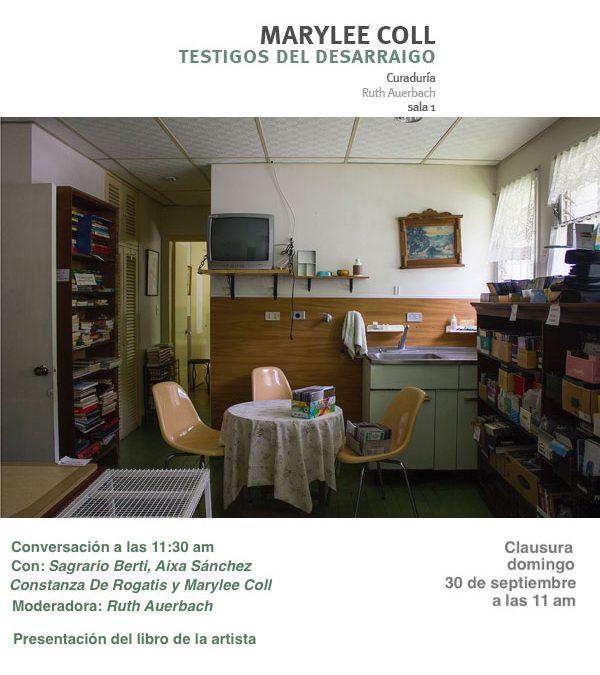 Conversación y clausura de las exposiciones: Marylee Coll, Testigos del desarraigo y Luis Romero, C(r)udo
