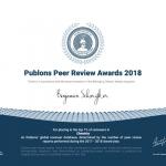 El rector Benjamín Scharifker recibió el Publons Peers Review Awards 2018