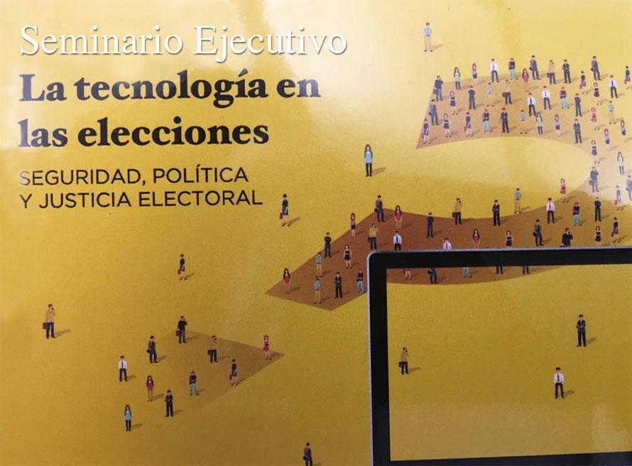 Nuestro Dir Gral AOG participa en el Seminario Ejecutivo: La tecnología en las elecciones, en George Washington University