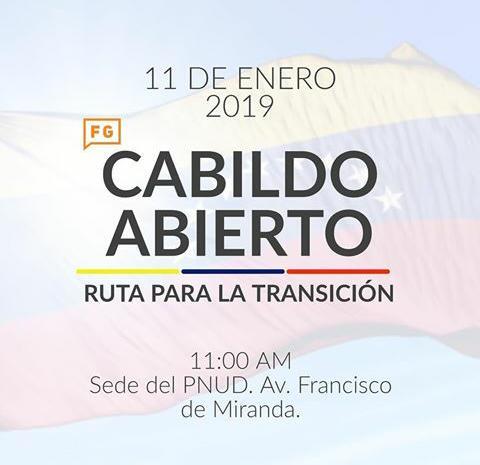 Cabildo Abierto, 11 de enero 2019