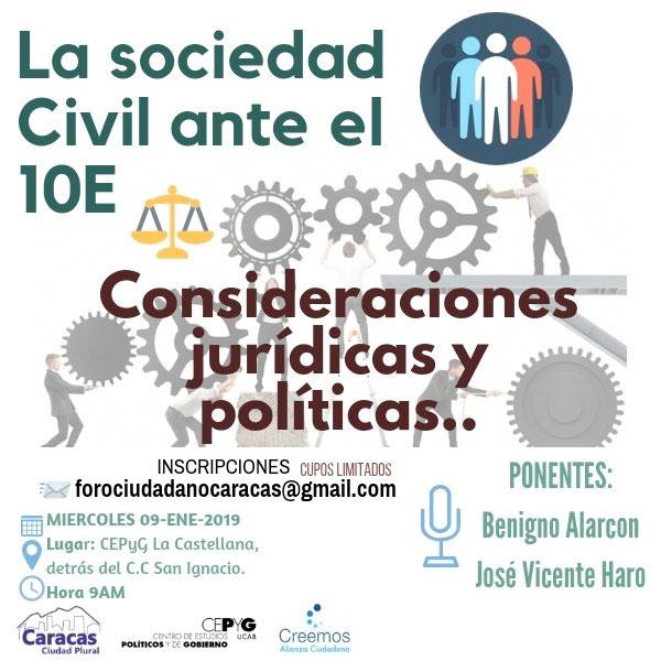 La sociedad civil ante el 10E – Consideraciones jurídicas y políticas…