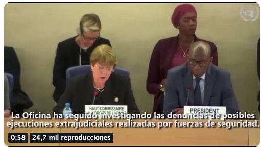 Comisionada Bachelet ratifica talante criminal y asesino de régimen de Maduro