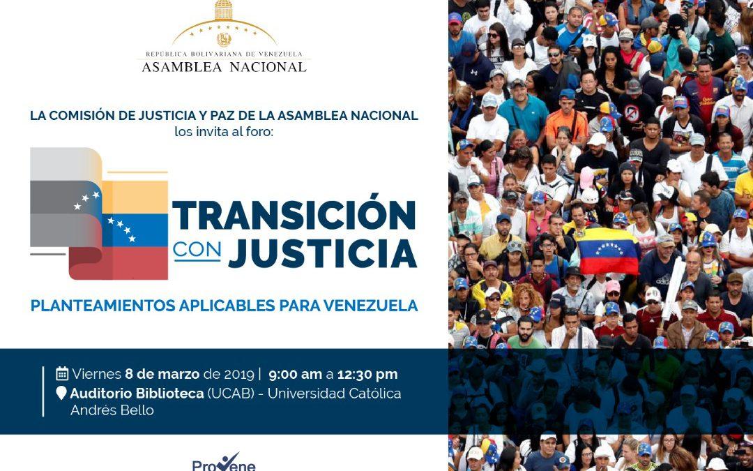 Foro: Transición con Justicia – 8 de marzo, UCAB