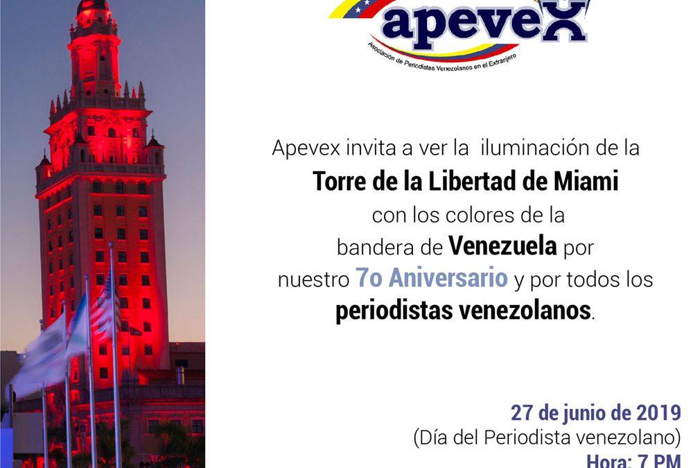 Emblemática Torre de la Libertad será iluminada con colores de la bandera en honor a periodistas venezolanos