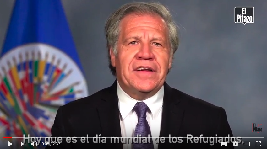 Almagro reitera compromiso con venezolanos en el extranjero por Día Mundial de los Refugiados