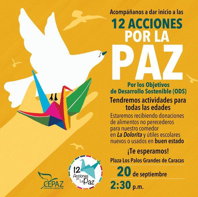 12 Acciones por la Paz: 20 de septiembre, 2:30 pm