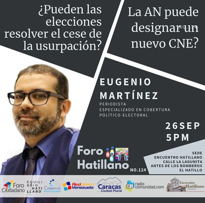Foro Hatillano, 26 sep, 5 pm