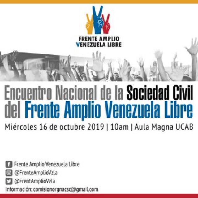 Encuentro Nacional de la Sociedad Civil del Frente Amplio Venezuela Libre