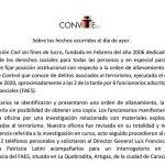 Posición institucional de Convite sobre los hechos ocurridos el día de ayer en nuestra oficinas en la ciudad de Caracas