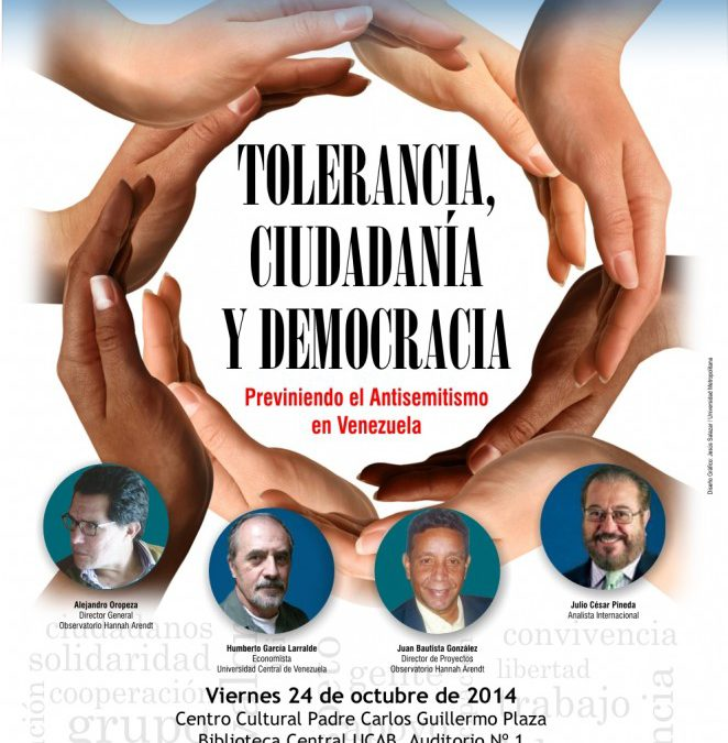INVITACIÓN: Seminario Tolerancia, Ciudadanía y Democracia 24/OCT