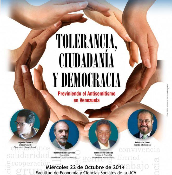 INVITACIÓN: Seminario Tolerancia, Ciudadanía y Democracia 22/OCT
